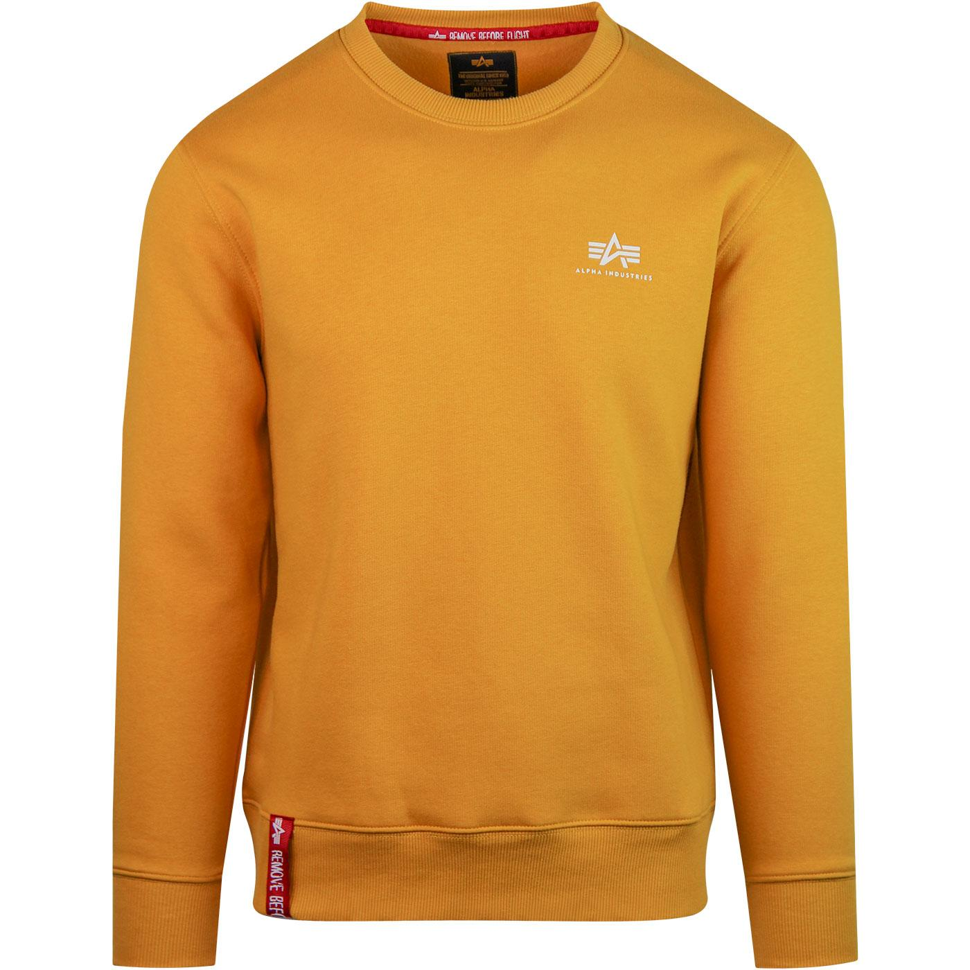 ALPHA INDUSTRIES Basic Small Logo Sweater Wheat