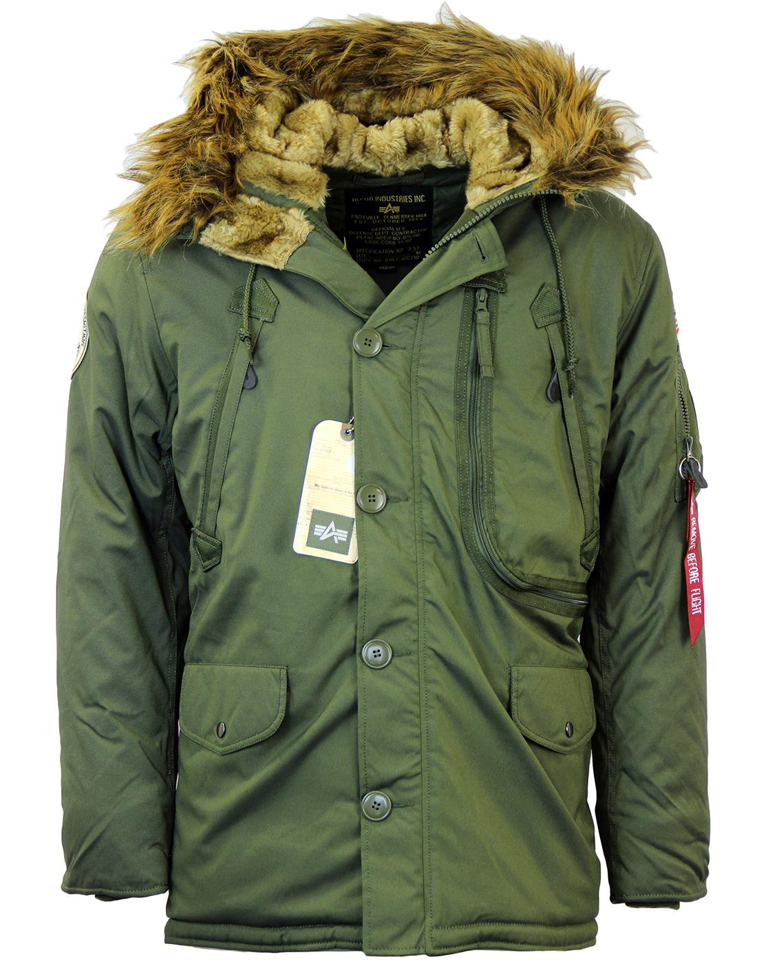 Polar ALPHA INDUSTRIES 60s Mod Parka w/ Patches DG