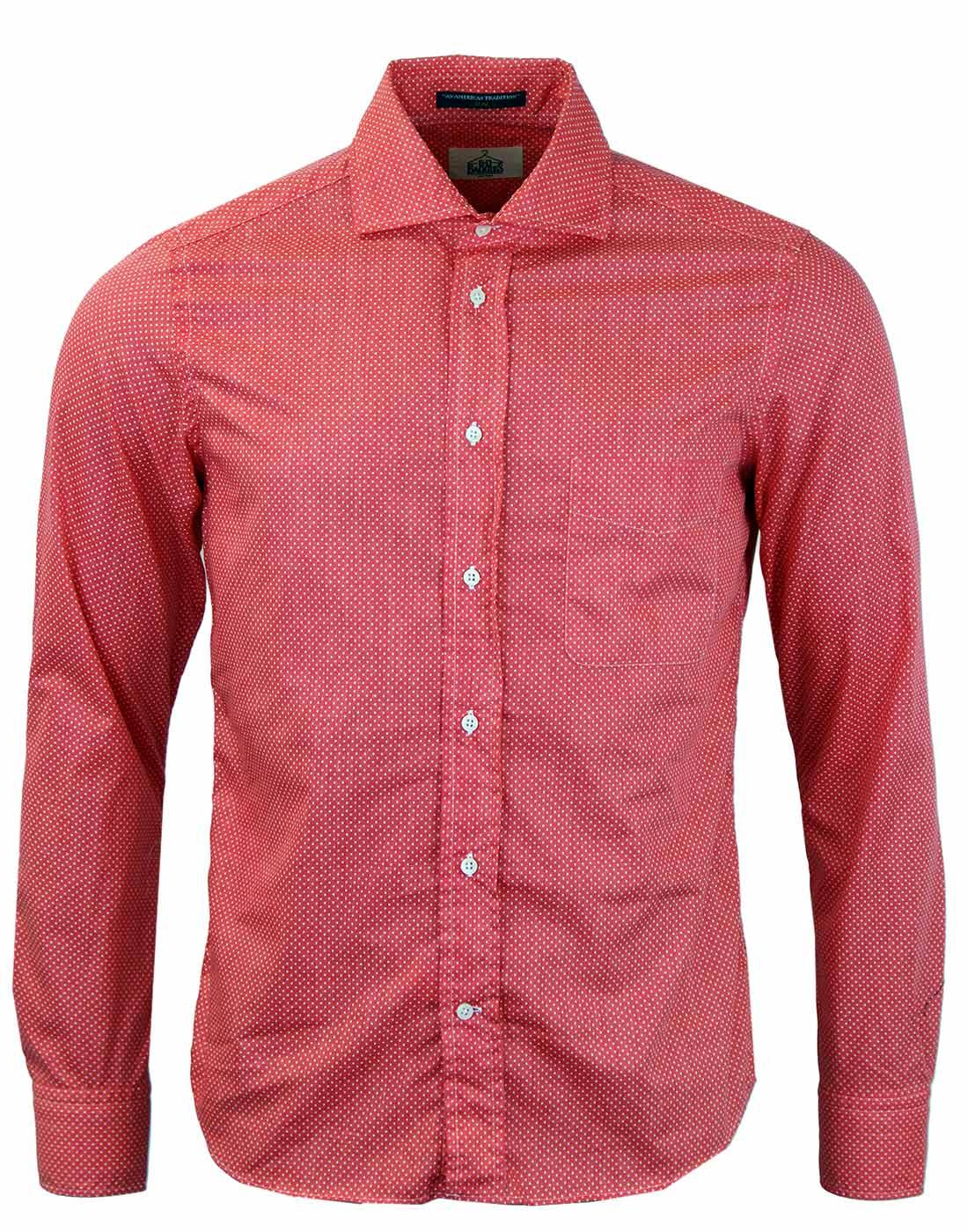 Dexter B D BAGGIES L/S Slim Fit Polka Dot Shirt R