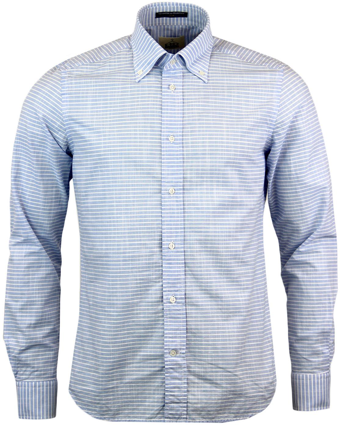 Dexter B D BAGGIES Retro Mod 60s Striped Shirt