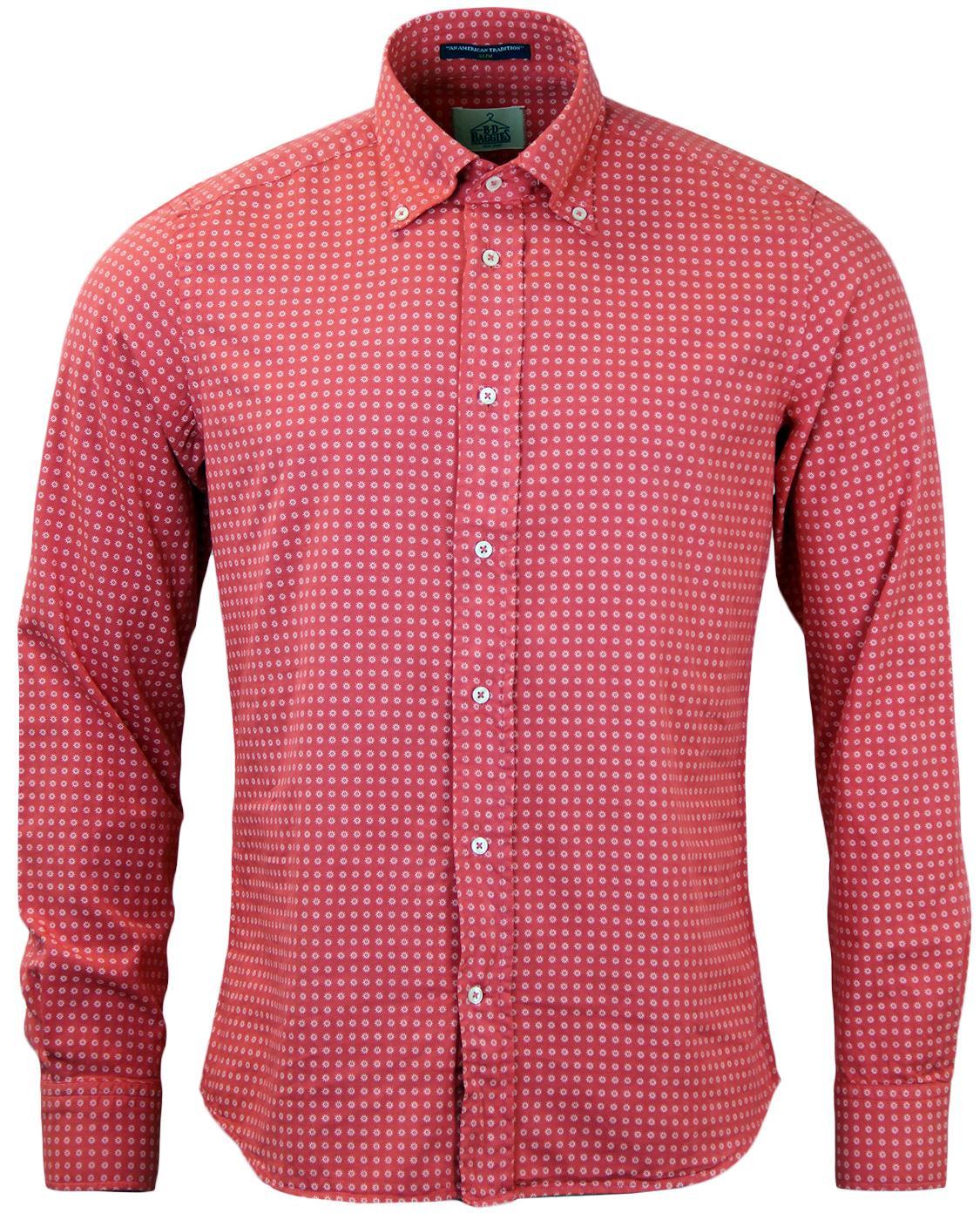 Dexter B D BAGGIES Retro Micro Floral Print Shirt