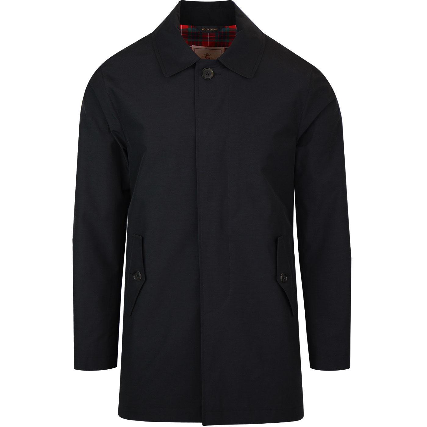 BARACUTA G10 Made in England Mod Mac Coat (Black)