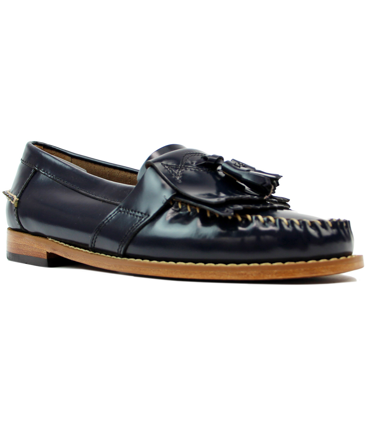 Elspeth Kiltie BASS WEEJUNS Retro Mod 60s Loafers