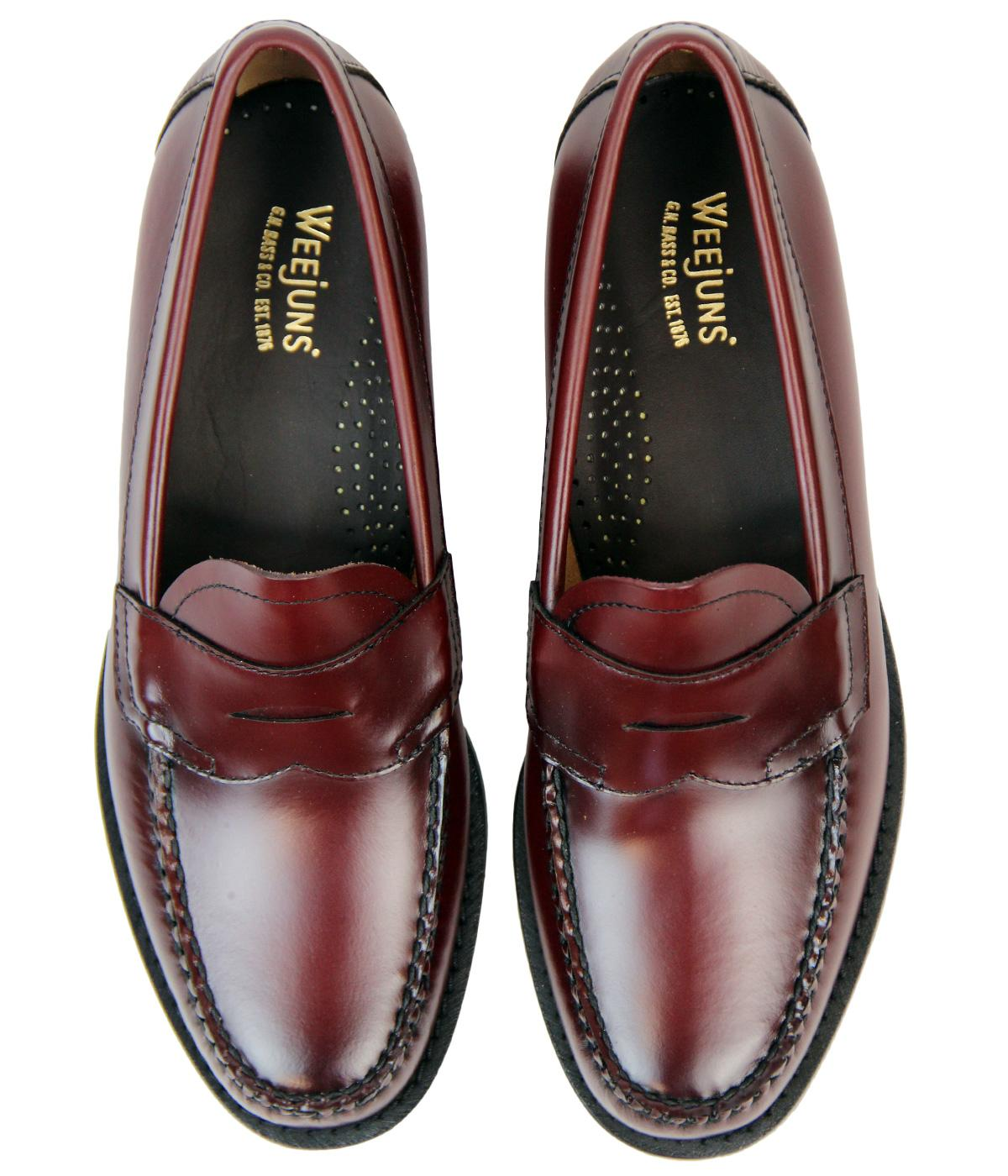 BASS WEEJUNS Logan Retro 60s Mod Classic Penny Loafer ...