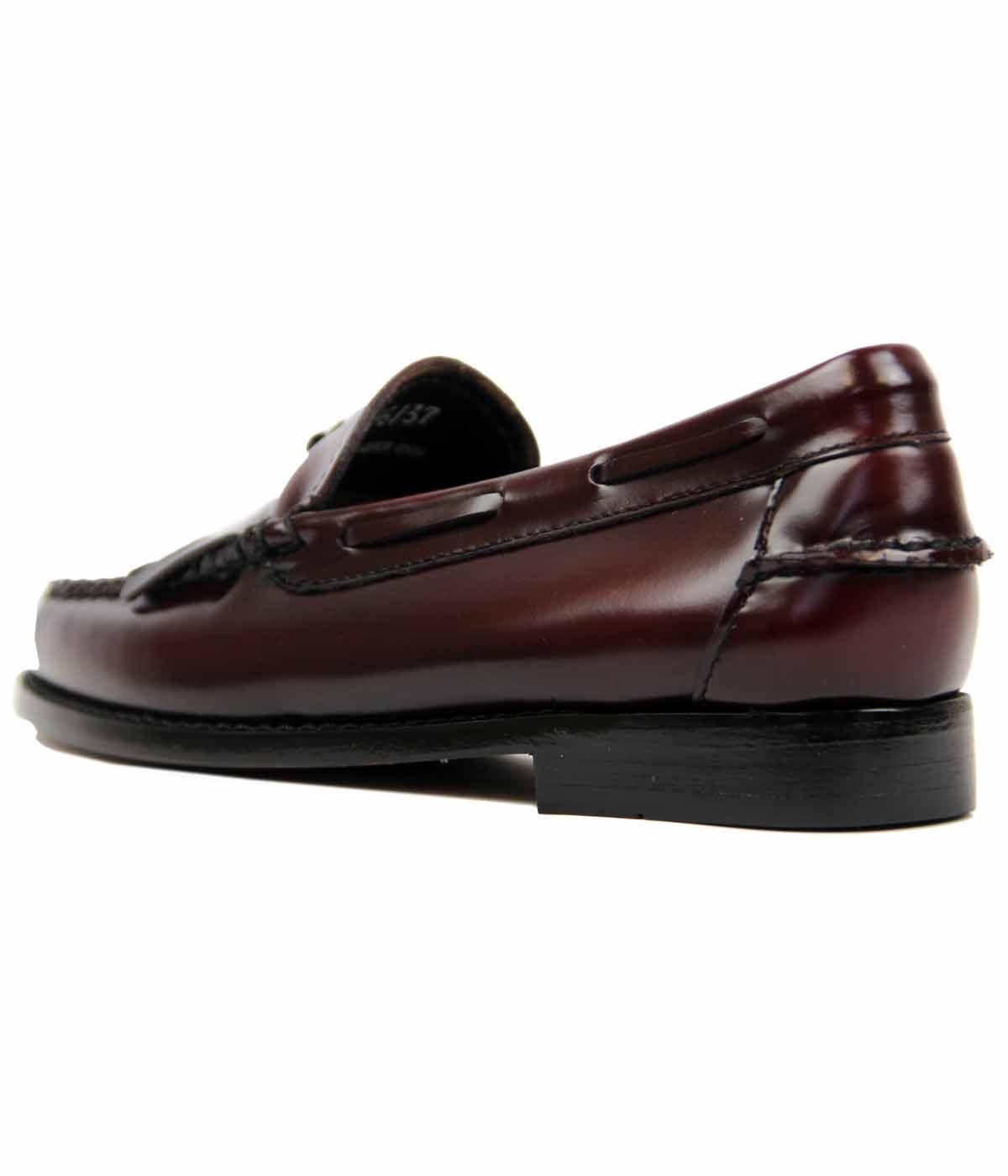5f920352962 BASS WEEJUNS Esther Retro Mod 60s Kilted Loafer in Wine
