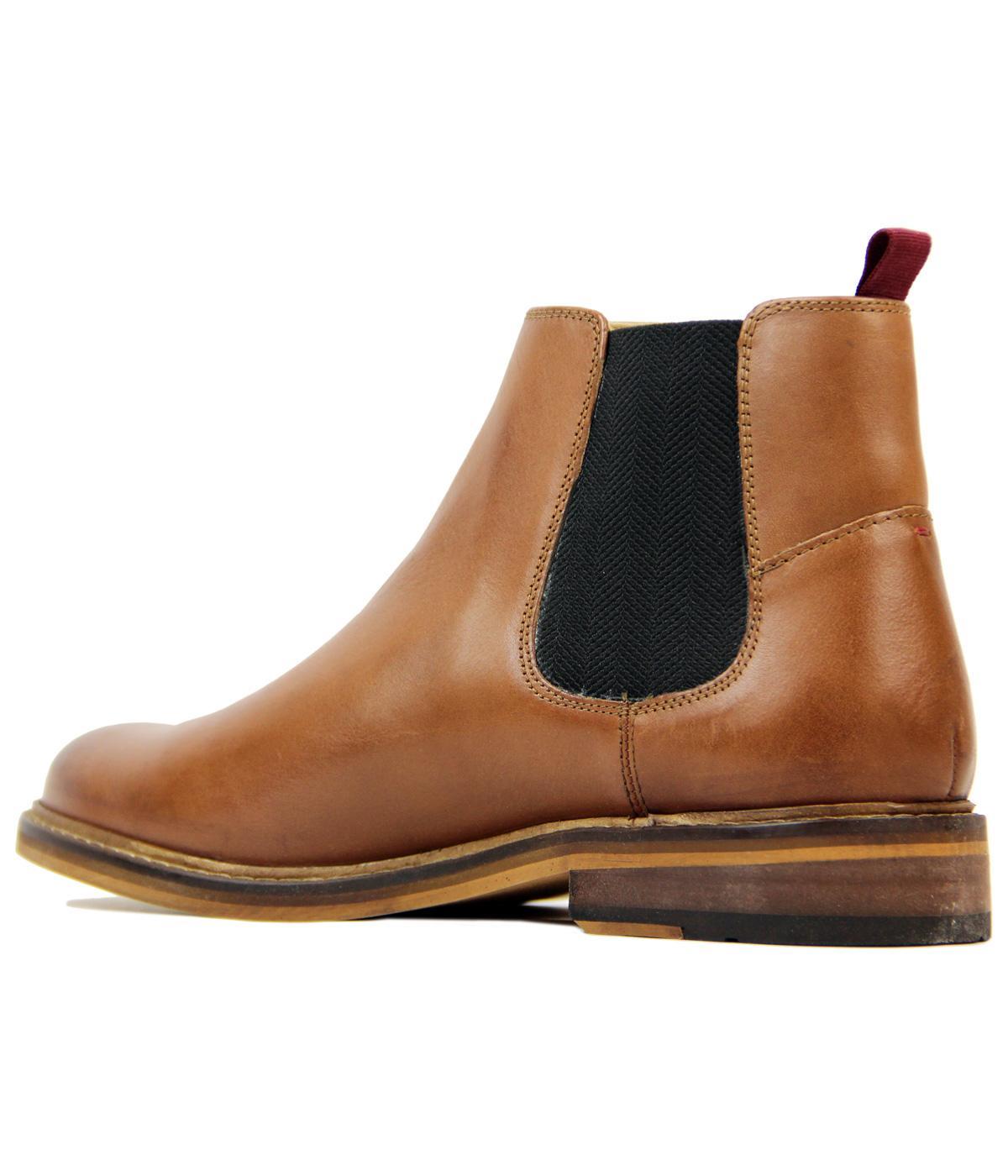 a1991ac31e2 Deon BEN SHERMAN Retro Mod Leather Chelsea Boots