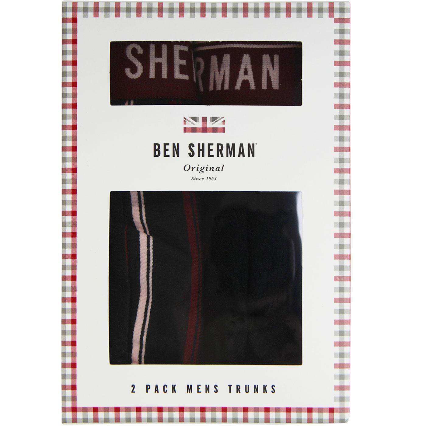 Bolton BEN SHERMAN 2 Pack Mod Stripe/Plain Trunks