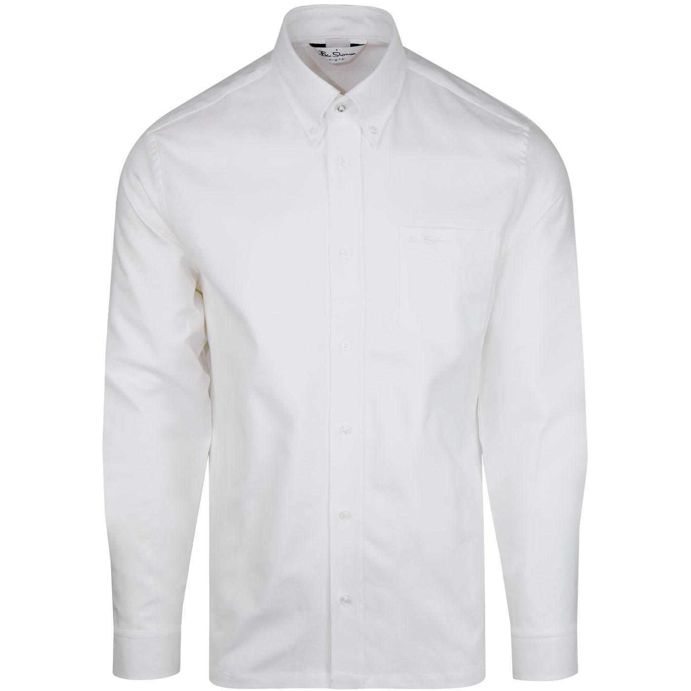 BEN SHERMAN Archive Benny L/S Mod Shirt WHITE