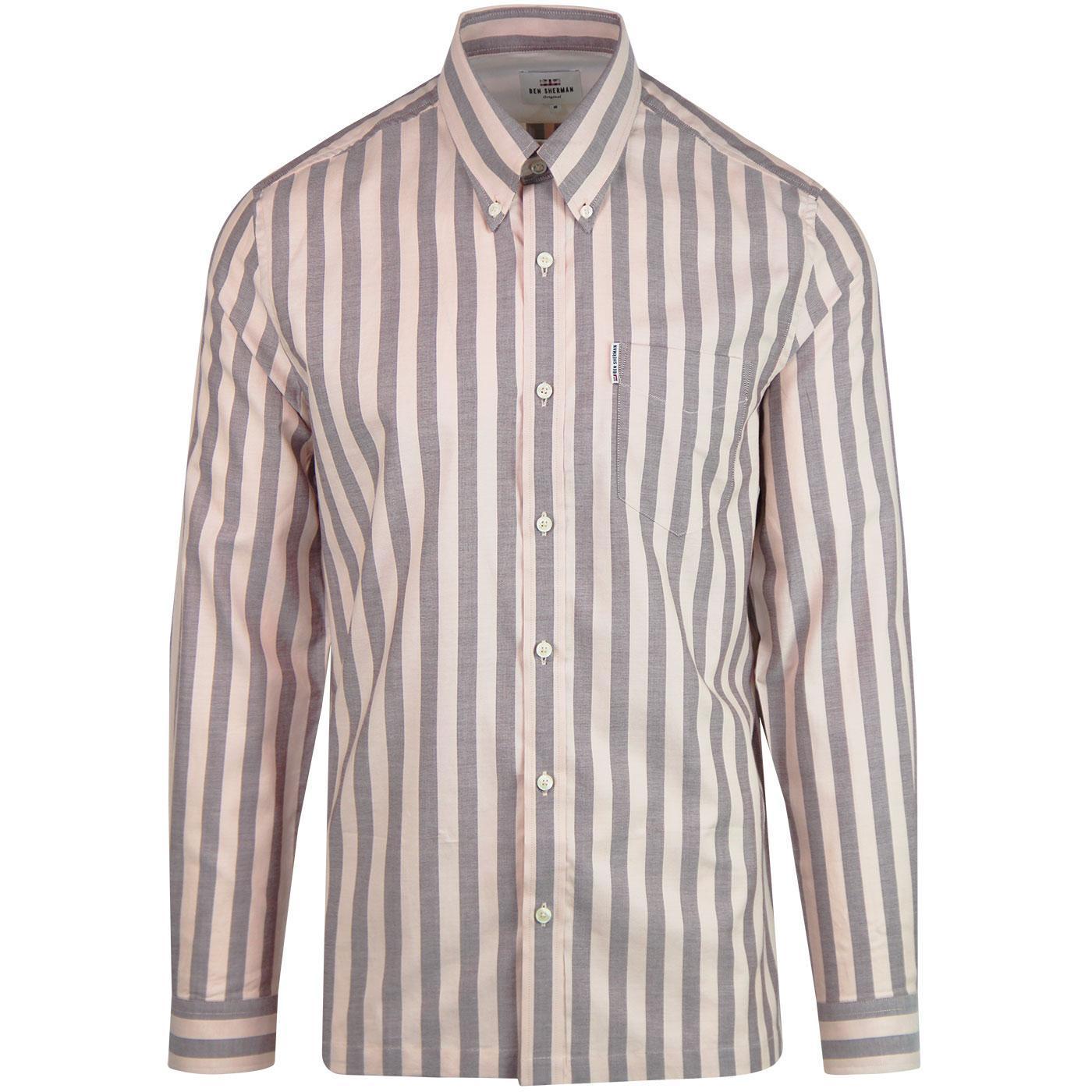 BEN SHERMAN Ivy Oxford Stripe Mod L/S Shirt (LP)
