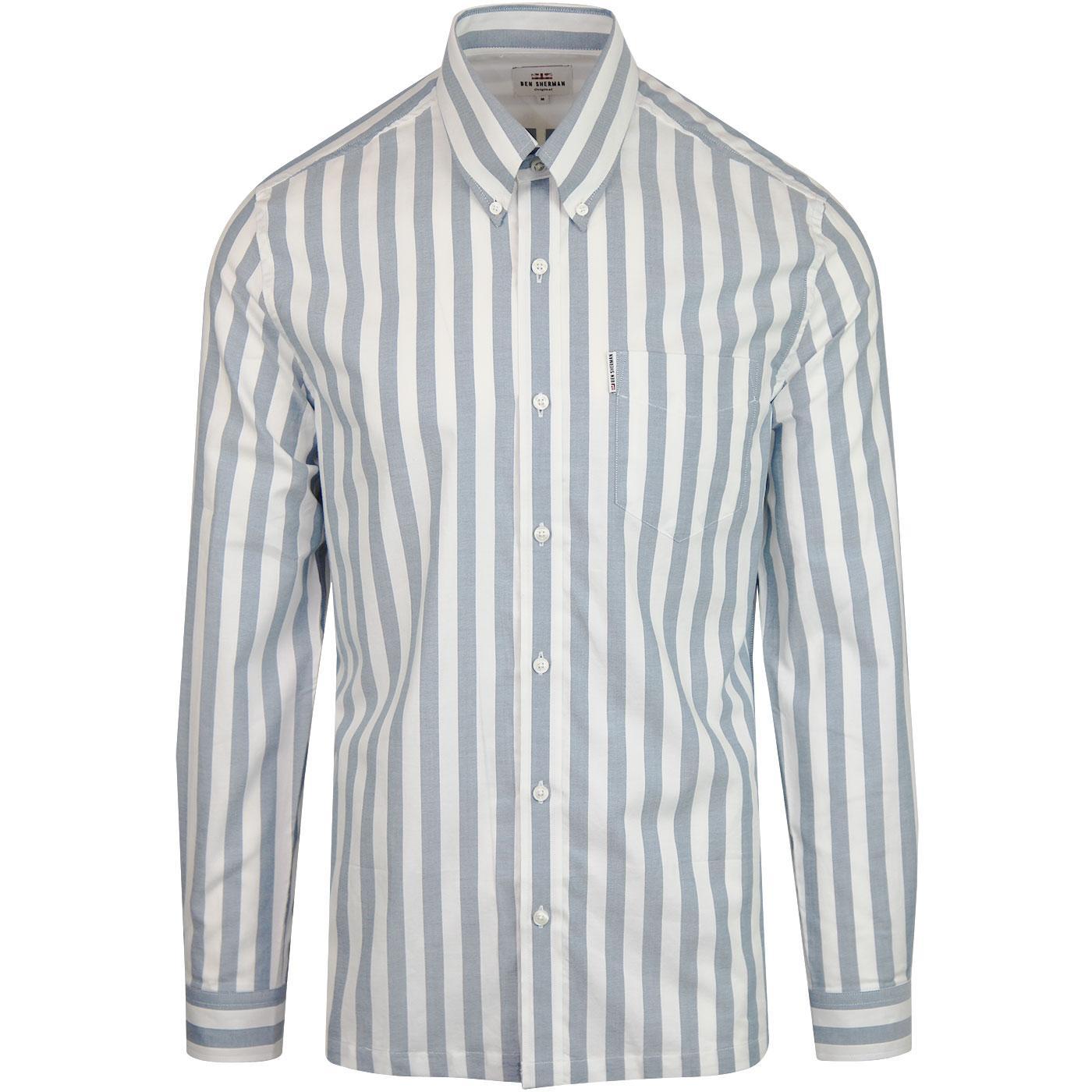 BEN SHERMAN Ivy Stripe L/S Mod Oxford Shirt (JB)