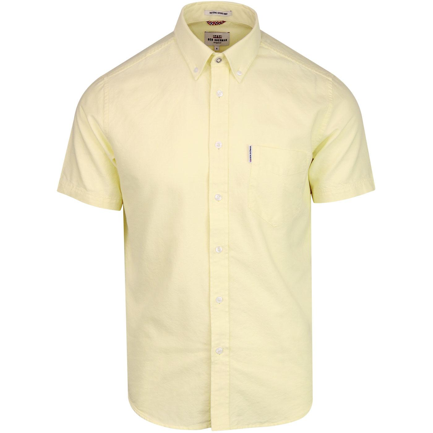 BEN SHERMAN S/S Core Retro Mod Oxford Shirt YELLOW