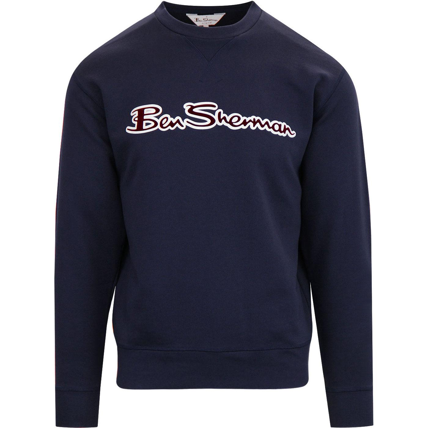 BEN SHERMAN Retro Archive Logo Carrier Sweatshirt