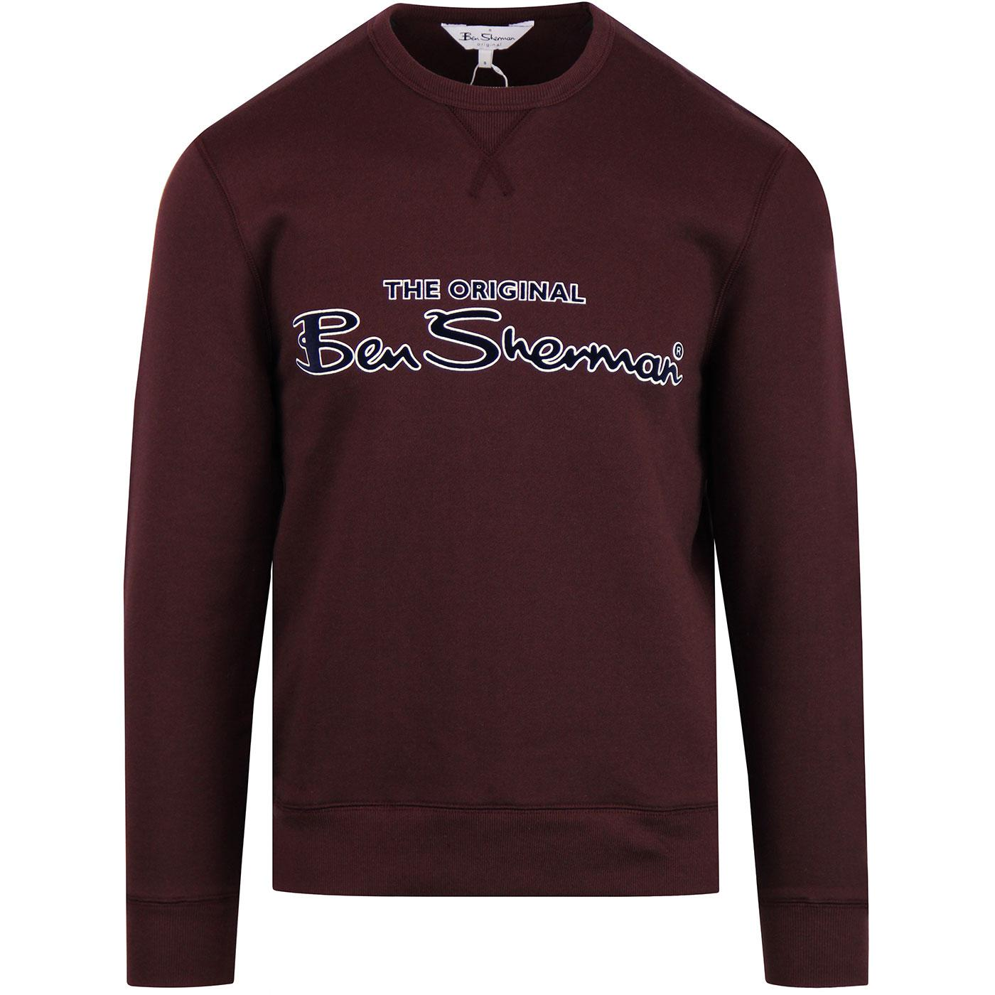 BEN SHERMAN Retro 90s Archive Sweatshirt DARK RED