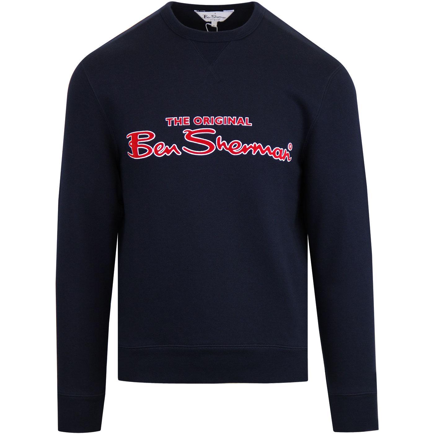 BEN SHERMAN Retro 90s Archive Sweatshirt NAVY