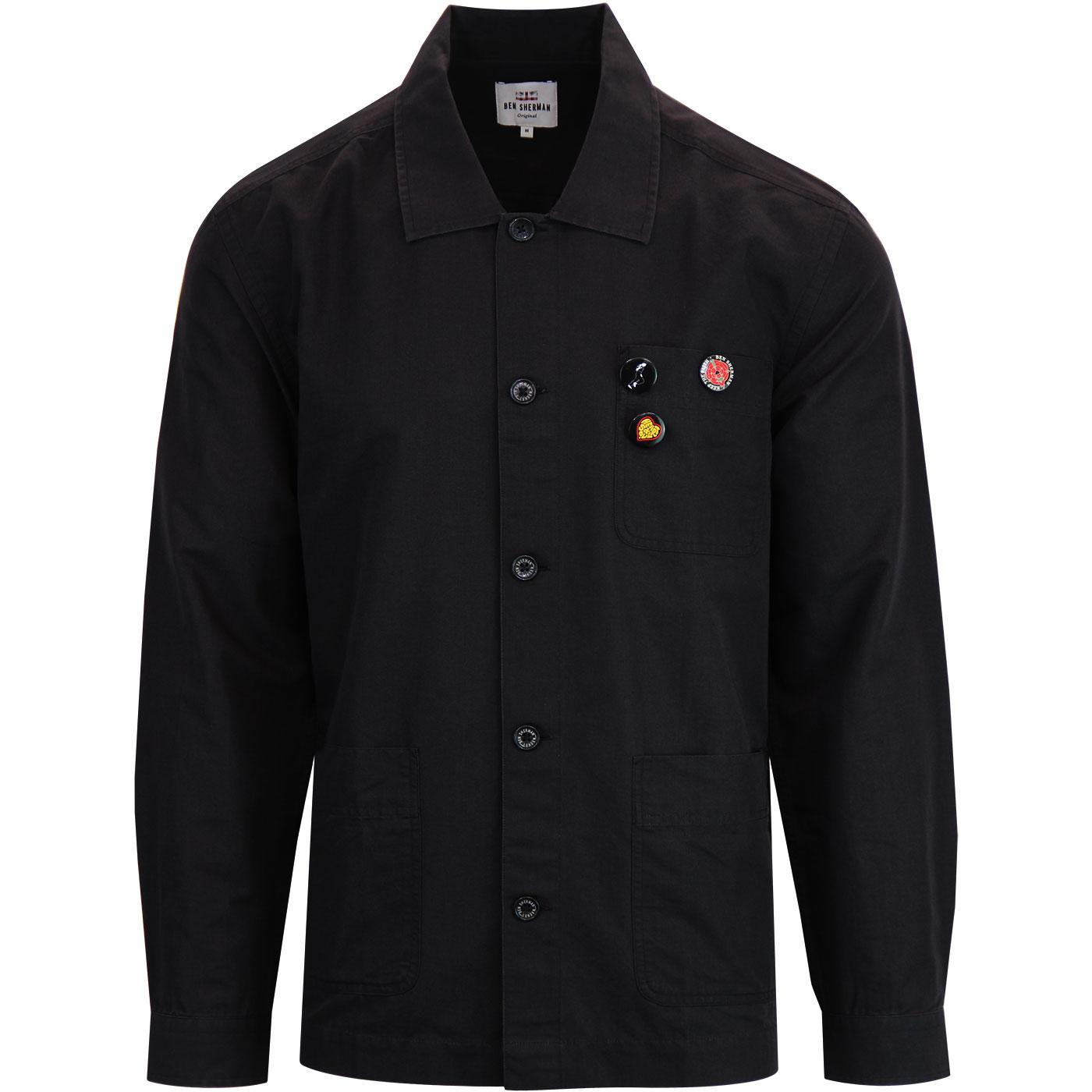 BEN SHERMAN Retro Mod Northern Soul Overshirt B