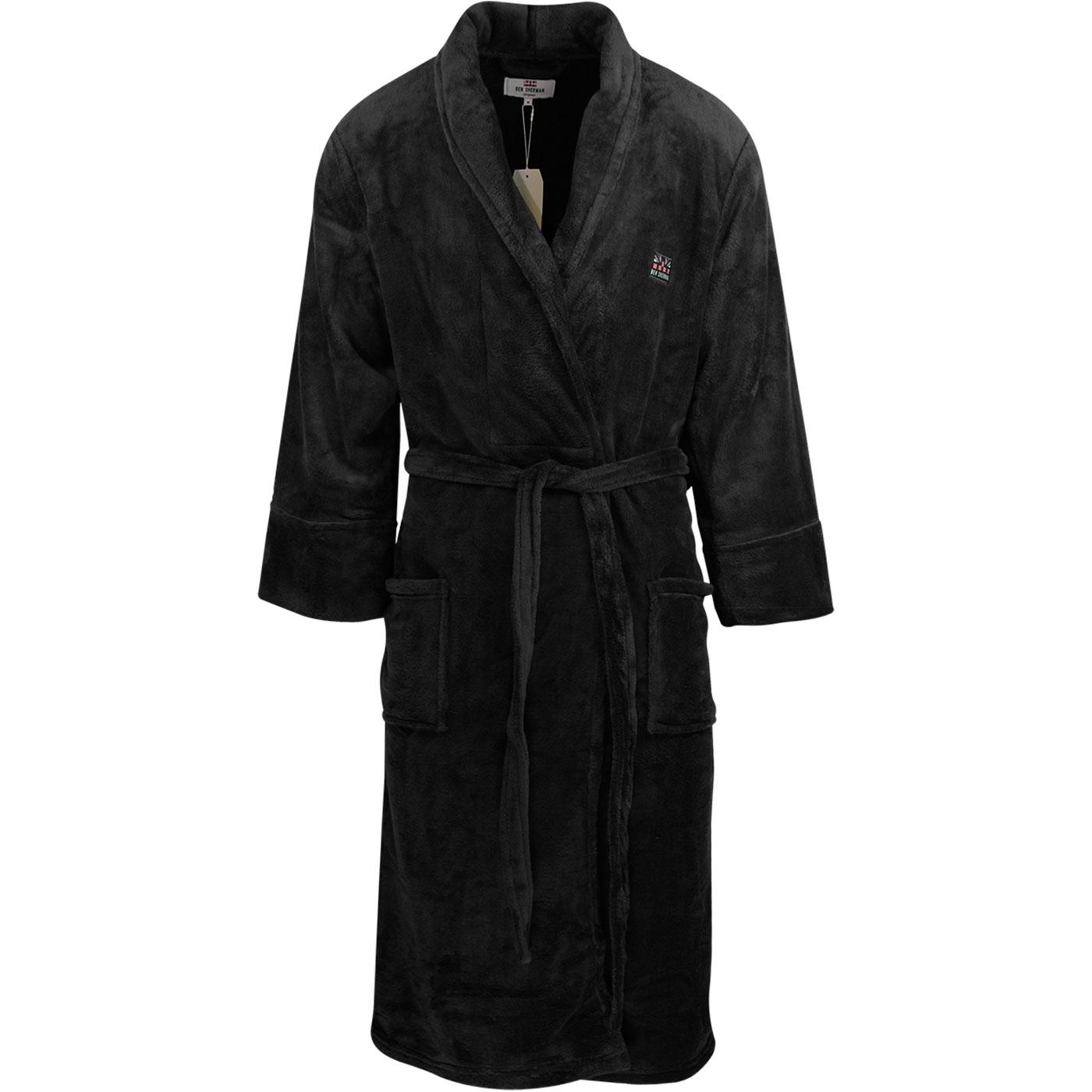 Henry BEN SHERMAN Men's Retro Bath Robe (Black)