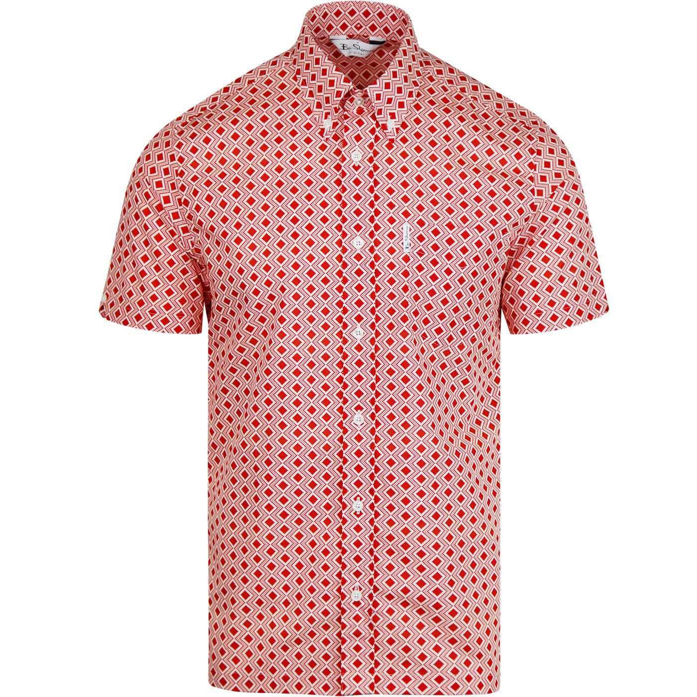 BEN SHERMAN Archive Cornell 60s Diamond S/S Shirt