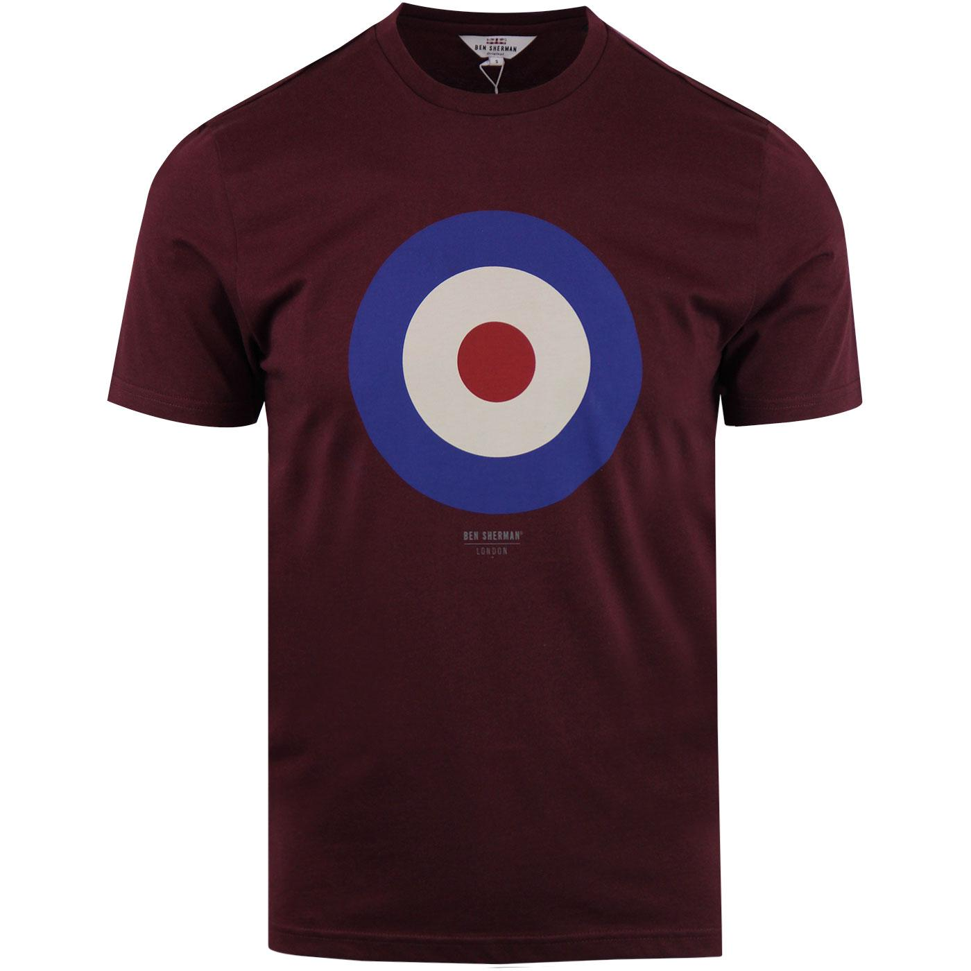 BEN SHERMAN Retro 1960s Mod Target T-shirt (Port)