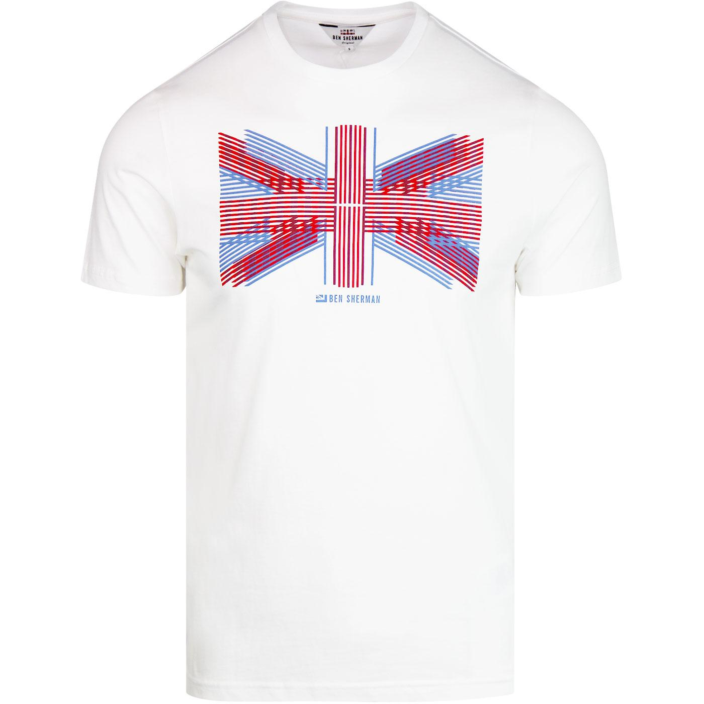 BEN SHERMAN Union Lines Retro Mod Flag T-Shirt