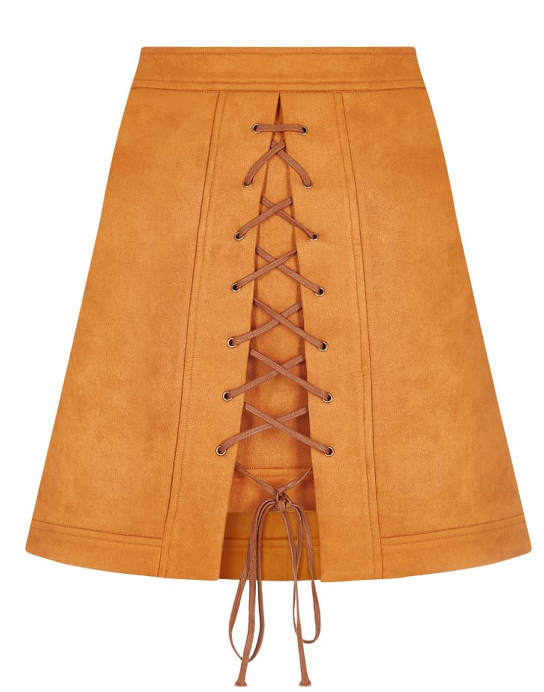 Lilca BRIGHT & BEAUTIFUL 1960s Mod Suedette Skirt
