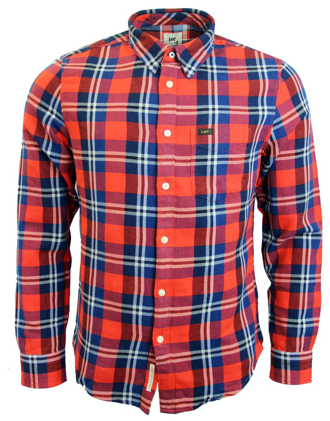 LEE Retro Mod Block Check Slim Fit Shirt