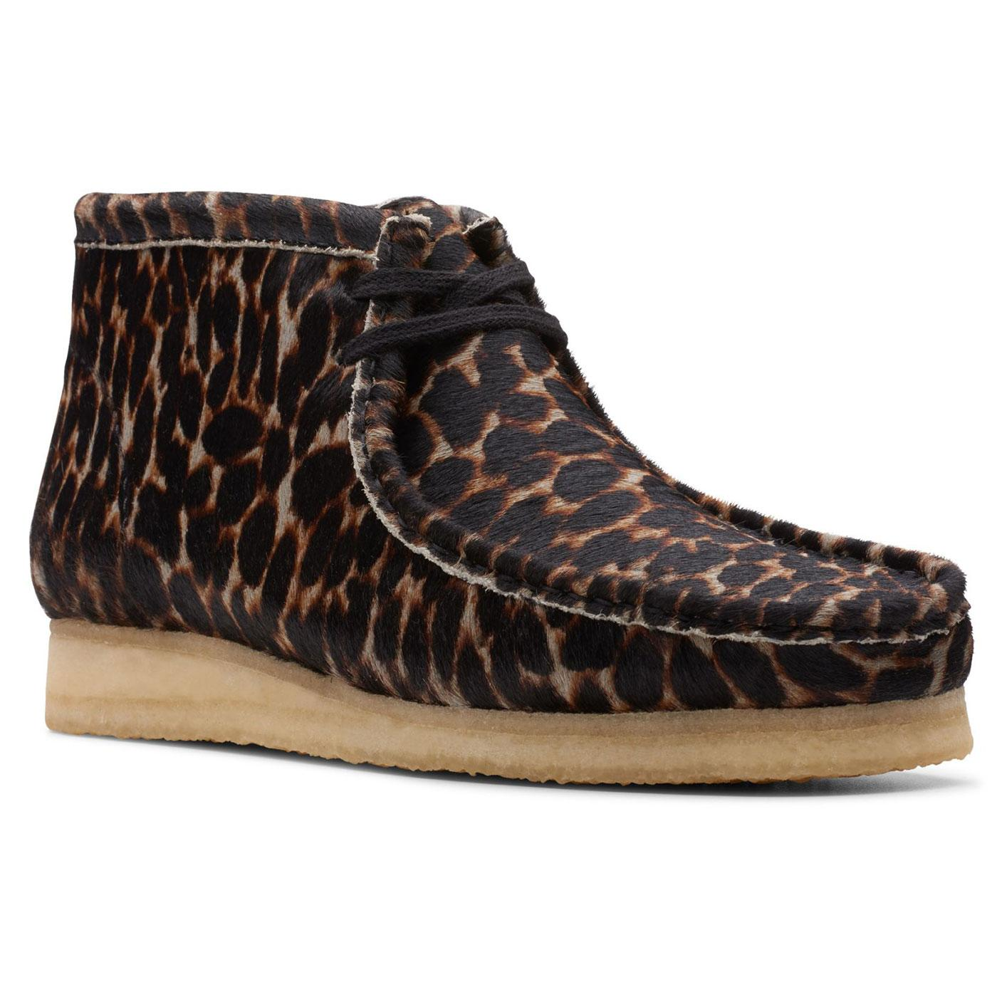 Wallabee Boots CLARKS ORIGINALS Animal Print Shoes