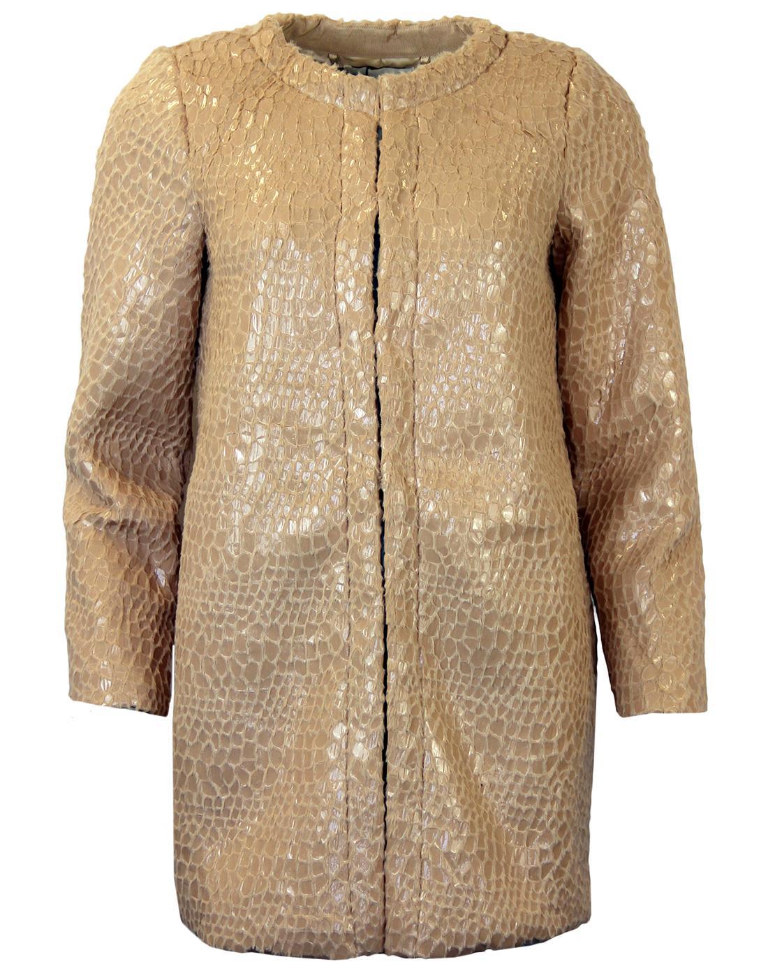 Nina DARLING Retro 60's Vintage Faux Fur Coat