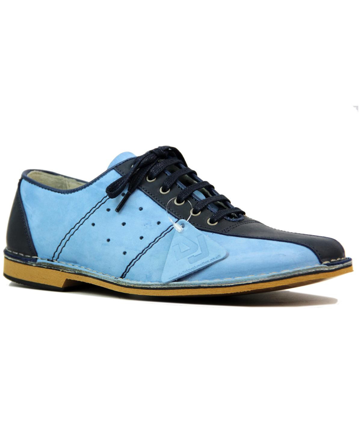 buy online 10010 f941d DELICIOUS JUNCTION Watts Retro Mod Bowling Shoes in Light Blue