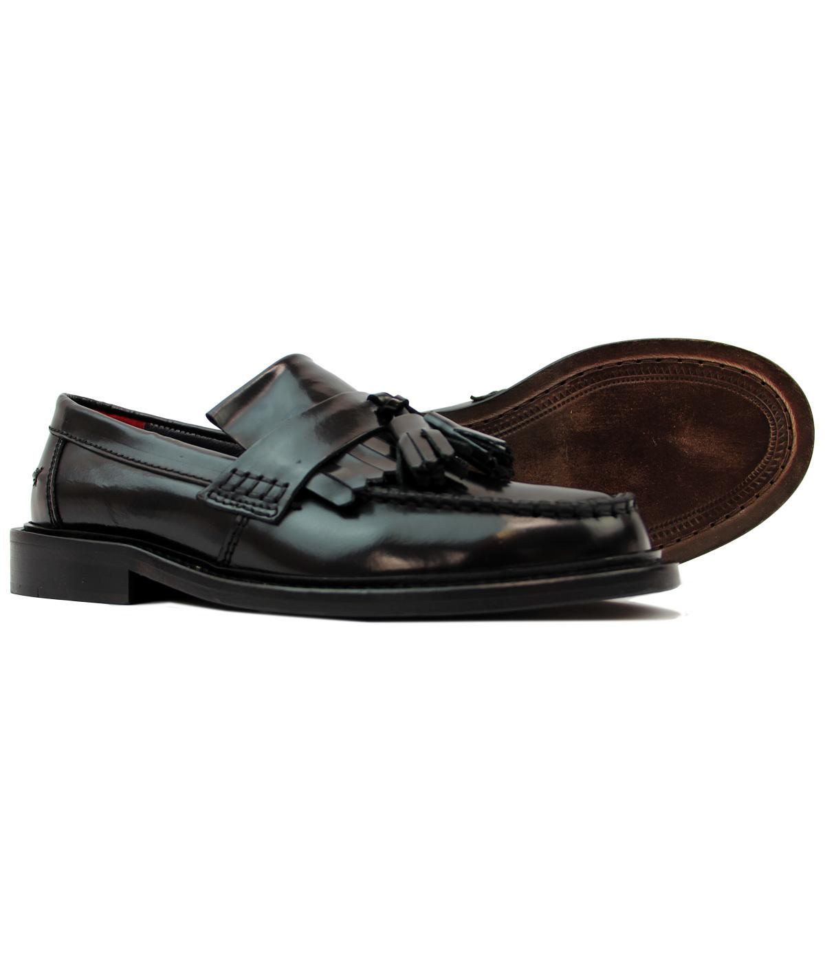 18c4655f799 DELICIOUS JUNCTION Rudegirl Womens 60s Mod Loafers in Black