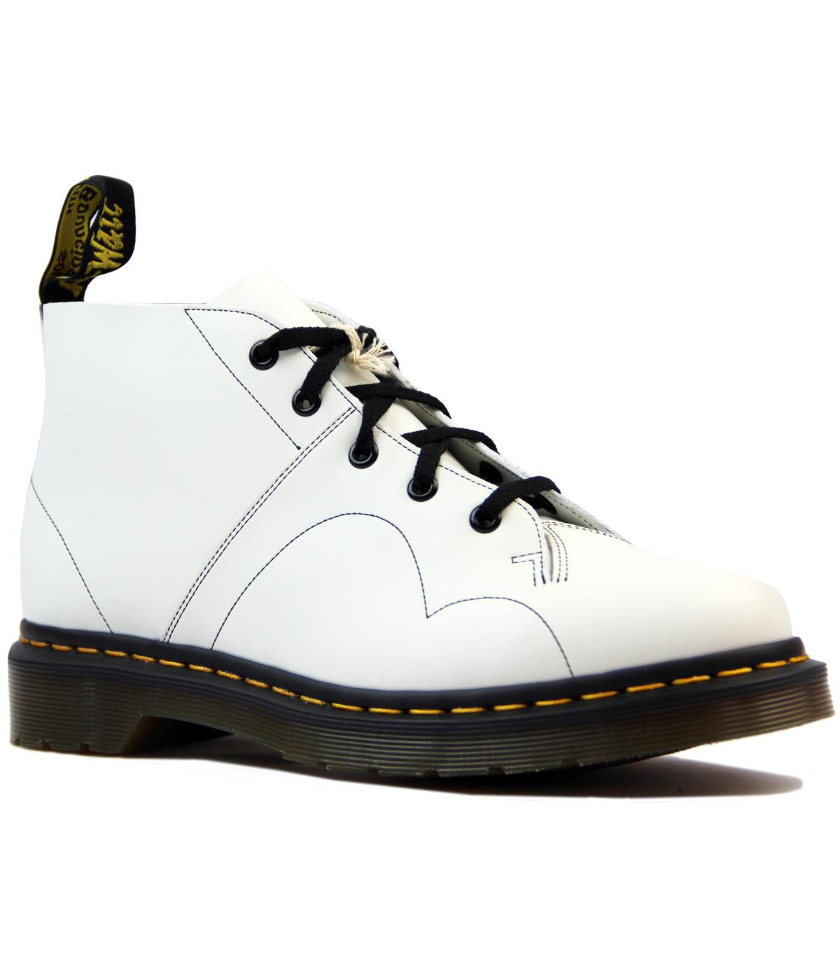 409bb25febd8c Dr Martens Church Retro Mod Smooth Leather Monkey Boots White