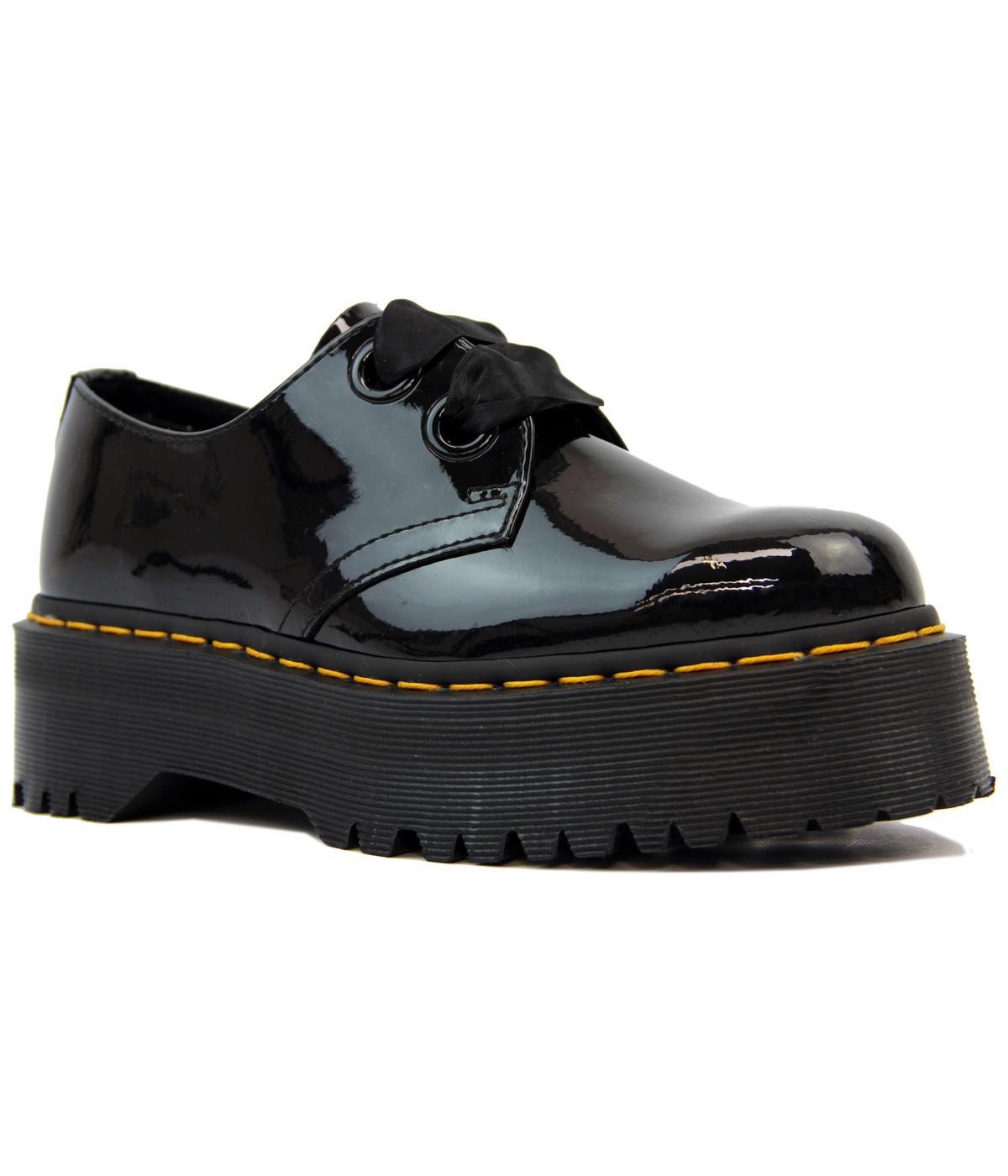 0a3fdab1e6 DR MARTENS Holly Retro Patent Lamper Lolita Shoes in Black