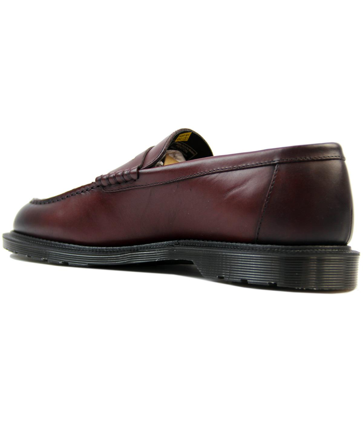 5e94fc5a6c7 DR MARTENS Henley Penton Retro Leather Bar Loafers in Cherry