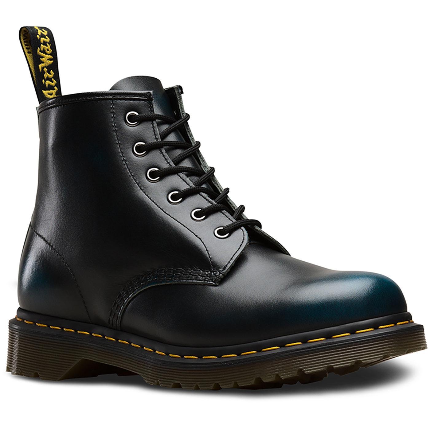 101 Vintage DR MARTENS Mod 6 Eyelet Ankle Boots Bl