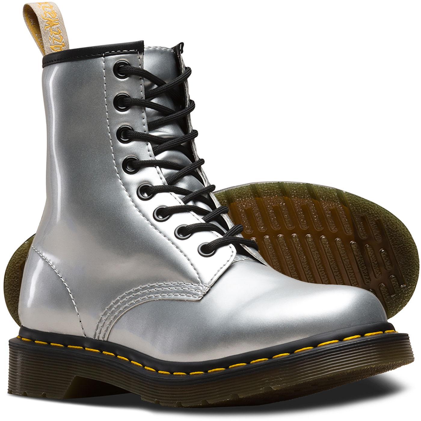 1460 Vegan Metallic DR MARTENS Boots SILVER