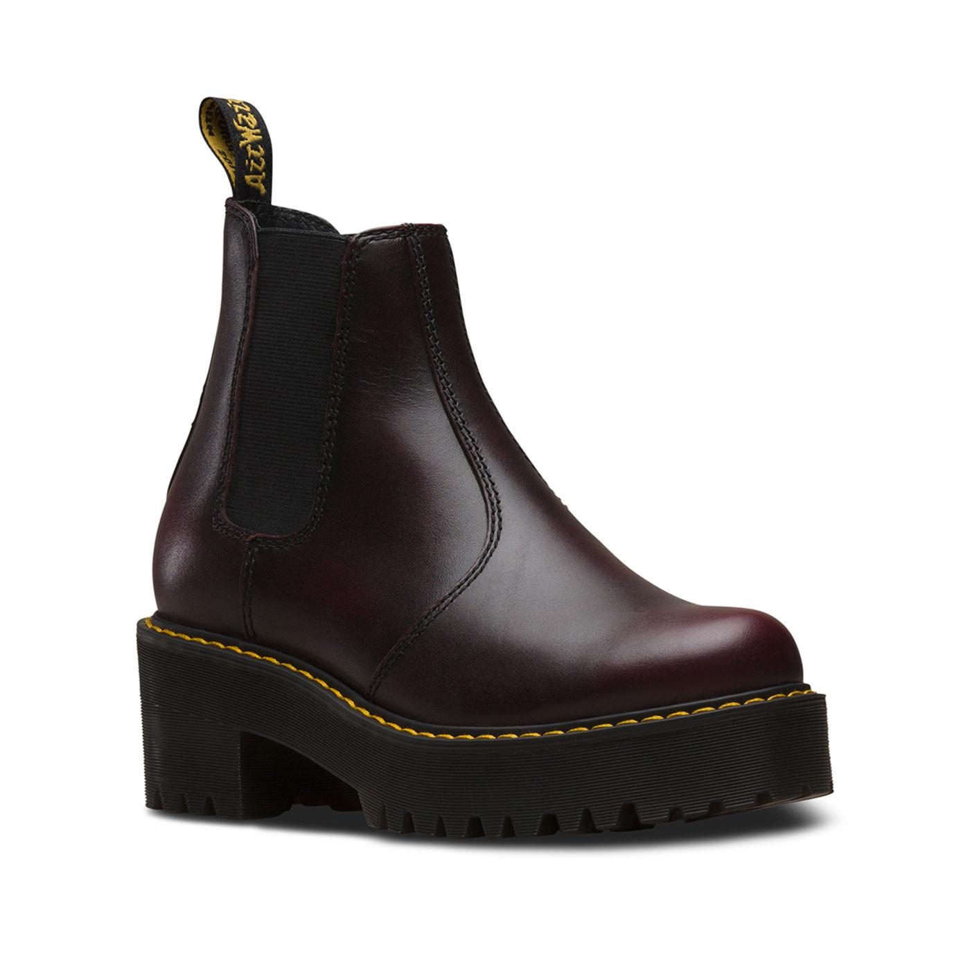 Rometty DR MARTENS WOMENS Vintage Boots Burgundy