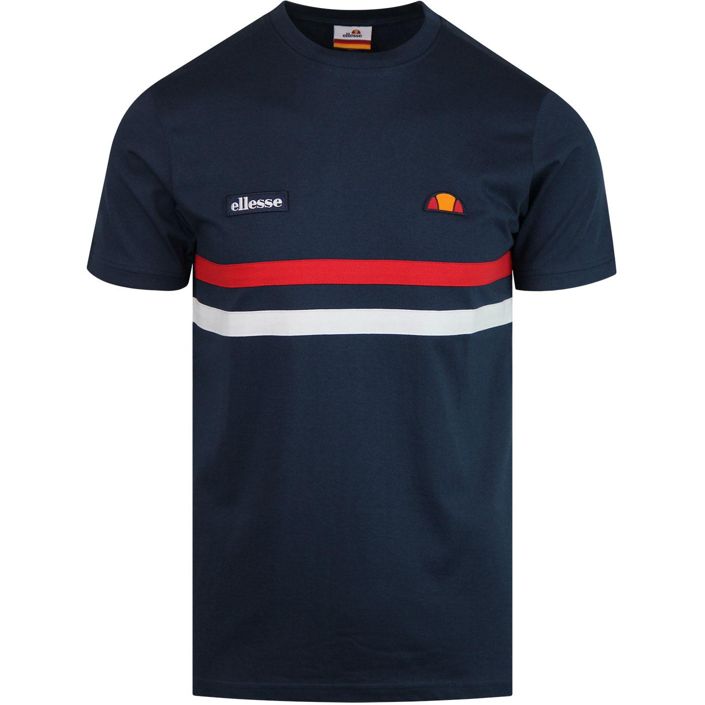 Banlo ELLESSE Mens Retro 70s Chest Stripe Tee (N)