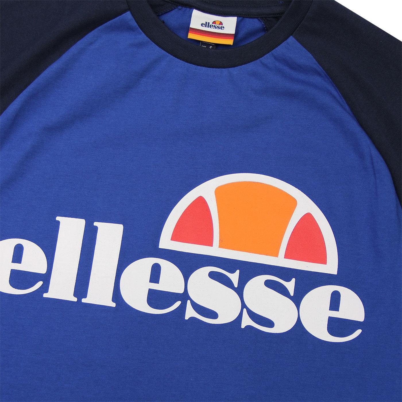 8cb3dbc7 ELLESSE Cassina Retro 80s Raglan T-Shirt in Mazerine Blue