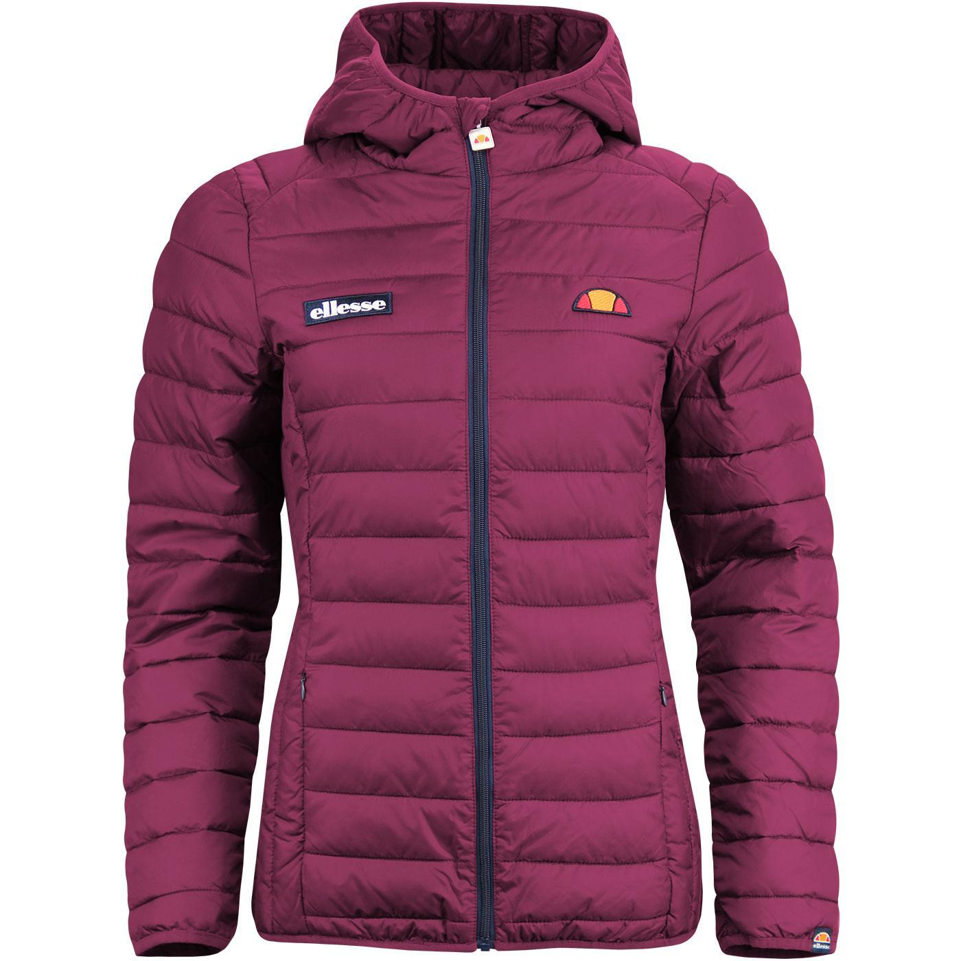 Lompard ELLESSE Retro 70s Padded Ski Jacket PURPLE