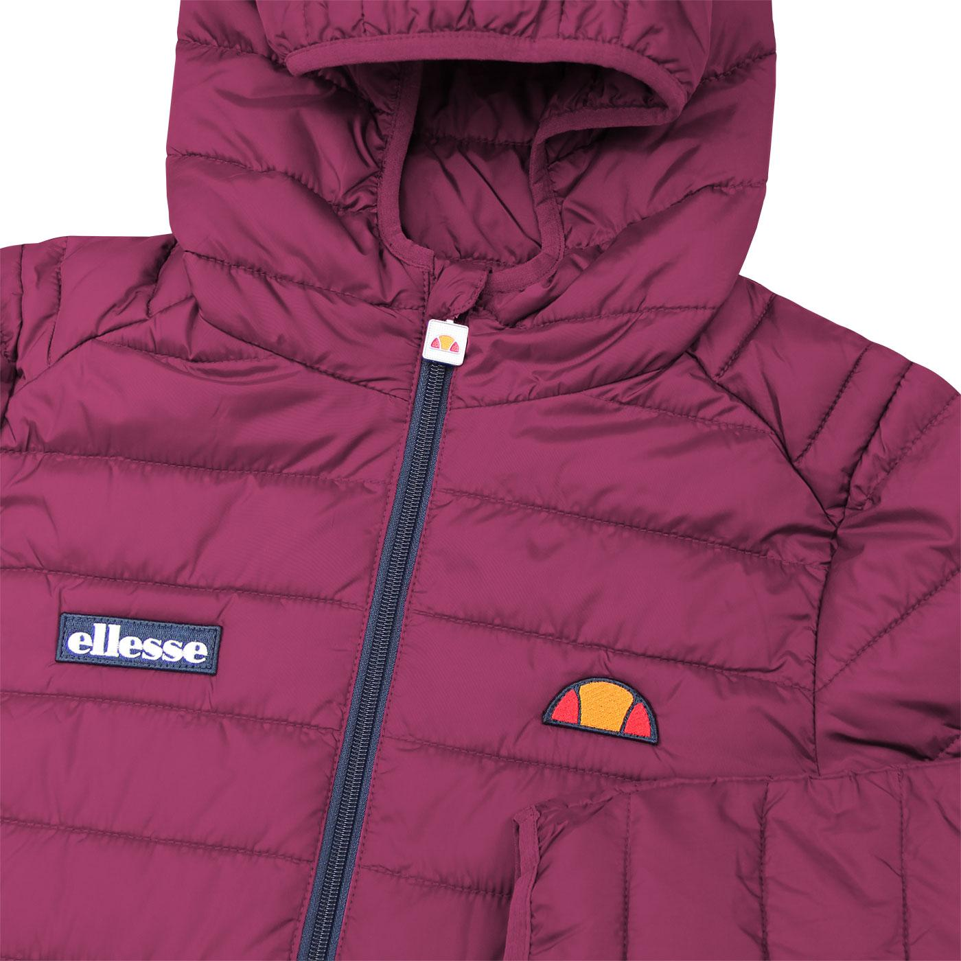 eb04bac4 ELLESSE 'Lombardy' Retro 70s Quilted Ski Jacket in Purple