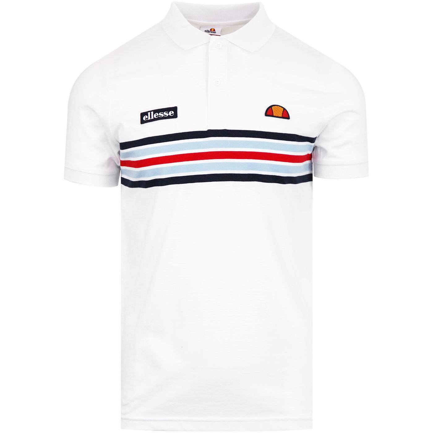 Pesaro ELLESSE Retro Indie Chest Stripe Polo Shirt