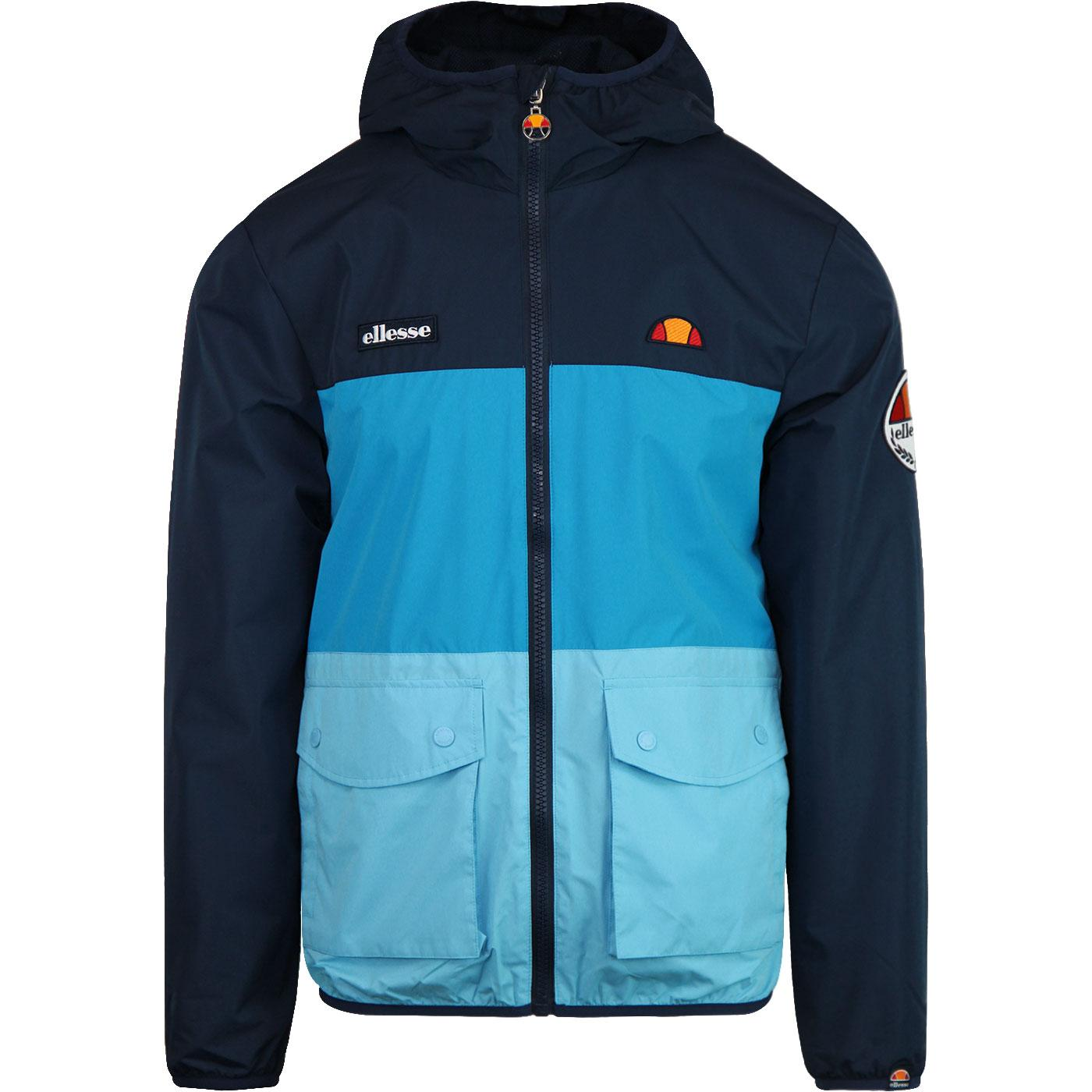 Trio ELLESSE Men's Full Zip Retro Jacket in Navy