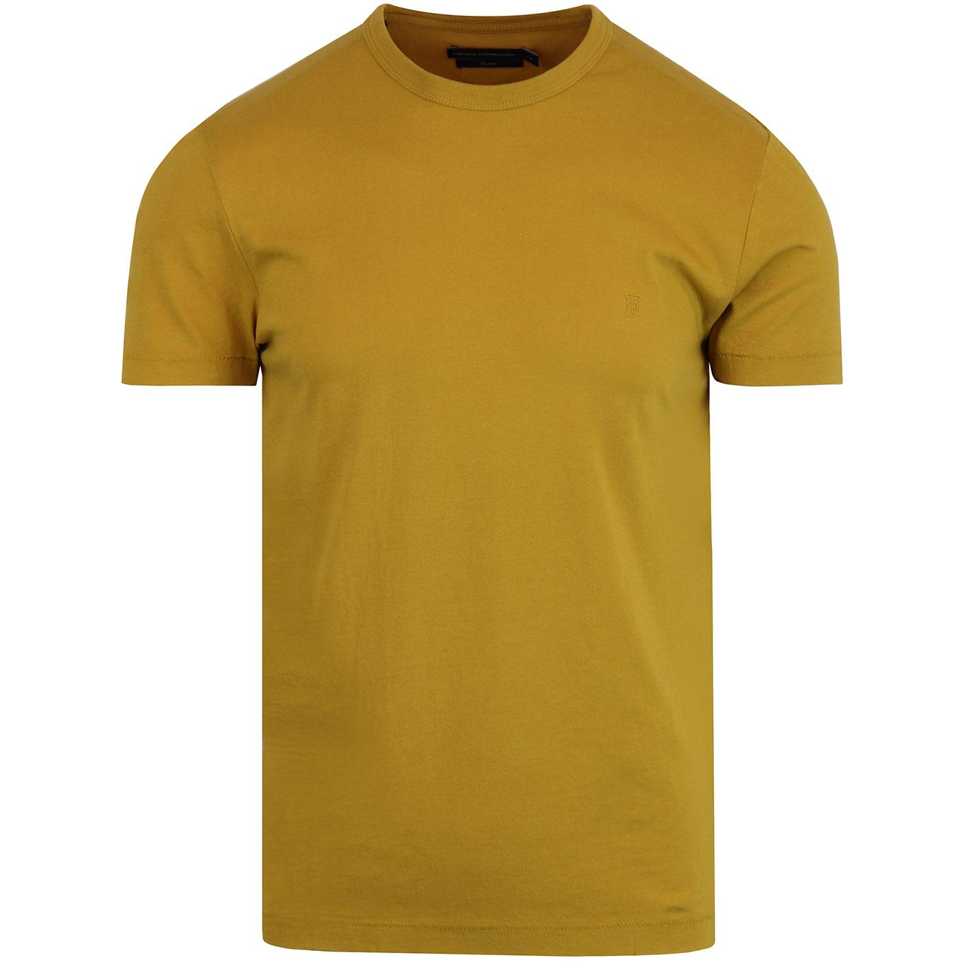 FRENCH CONNECTION Basic Slim Crew Neck Tee - Honey
