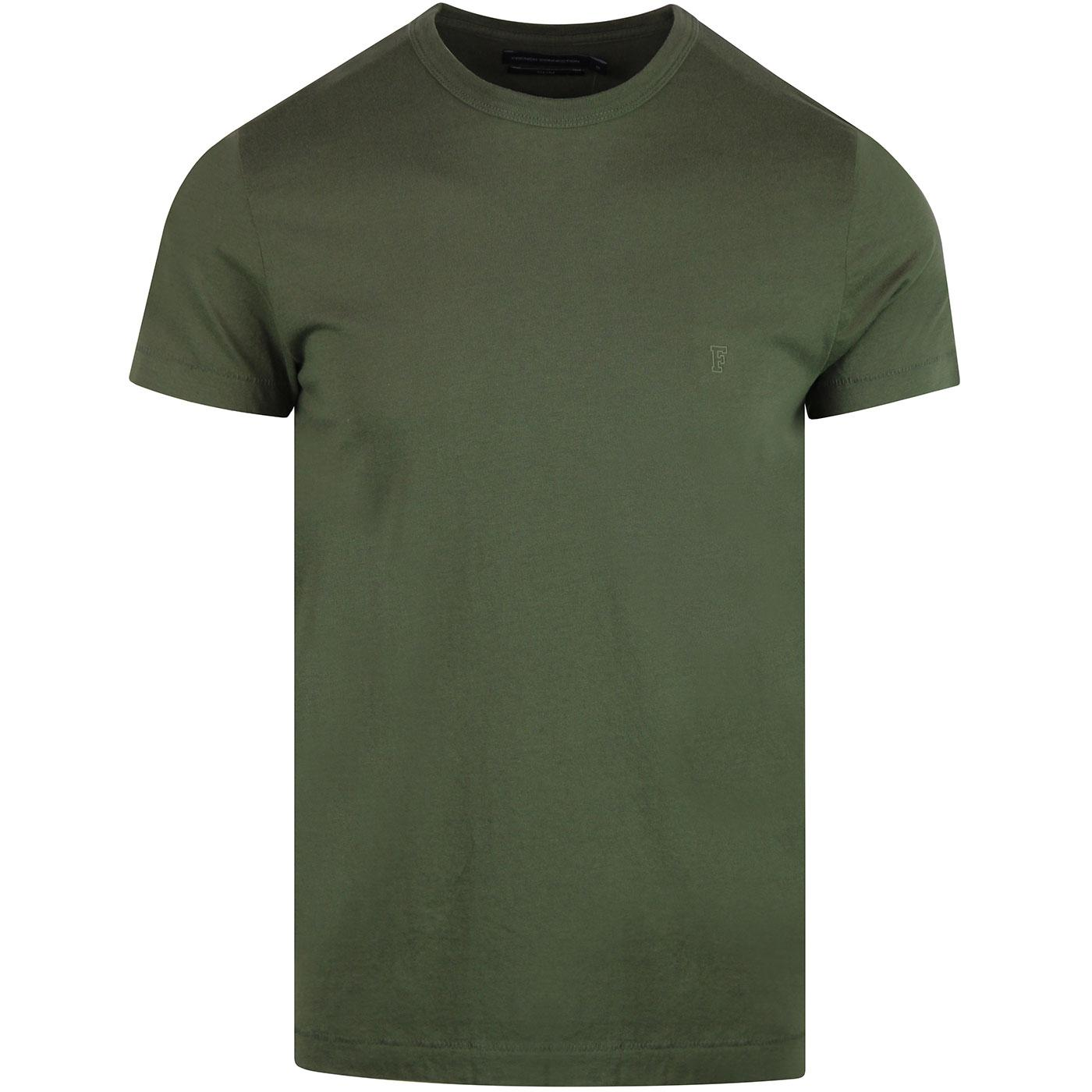 FRENCH CONNECTION Basic Slim Crew Neck Tee - Green