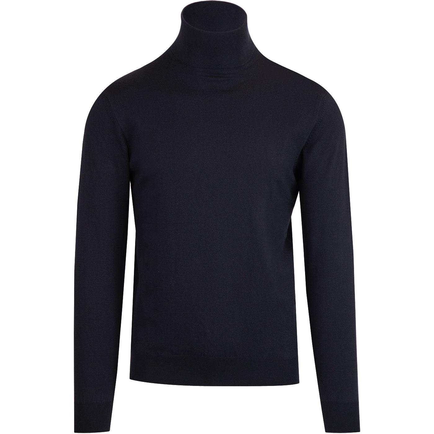 FRENCH CONNECTION 60s Mod Roll Neck Jumper (Navy)
