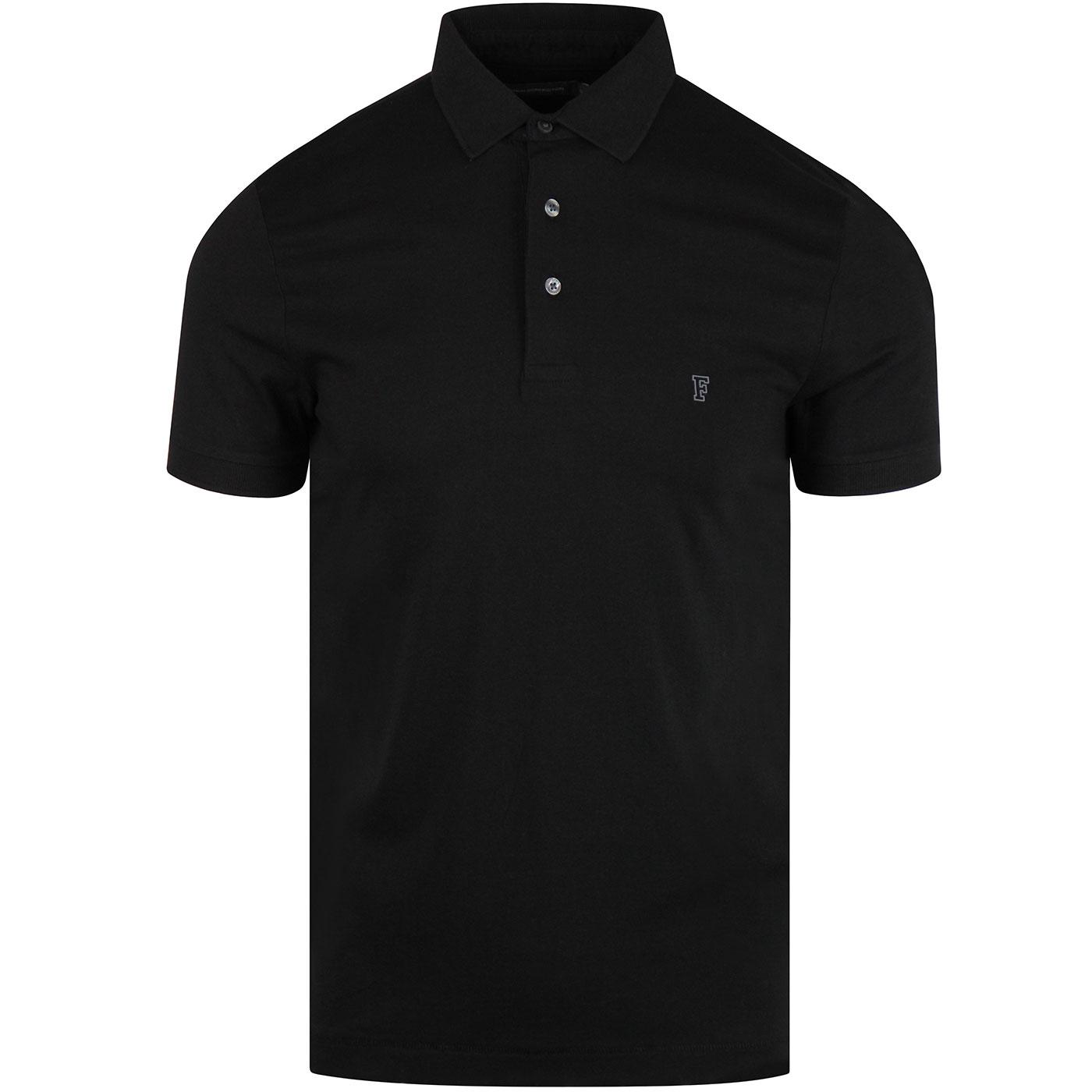 Sneezy FRENCH CONNECTION Mod Jersey Polo BLACK