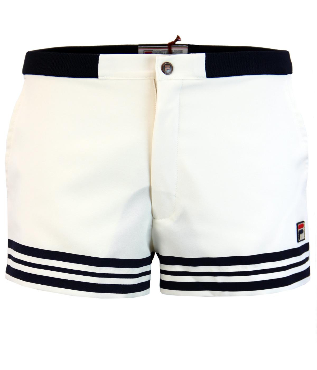 9703d4bb4420 FILA VINTAGE Docka Retro Seventies Tennis Shorts in Gardenia