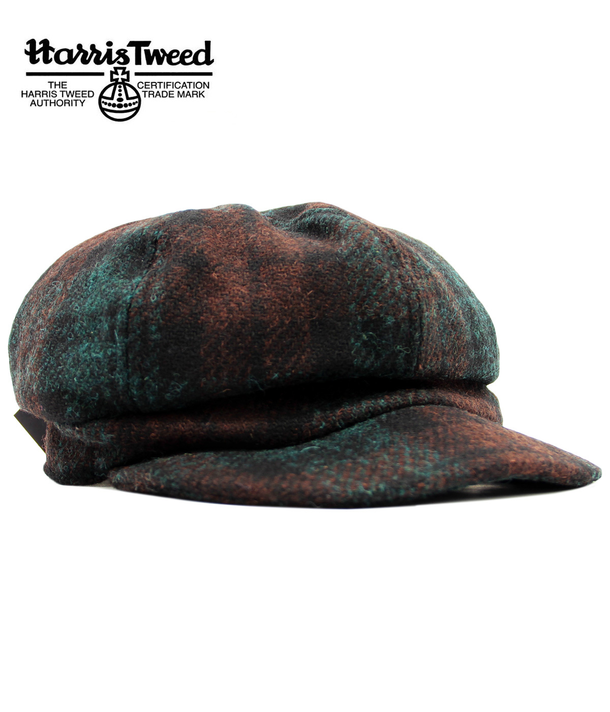 62efe6cf73f FAILSWORTH Harris Tweed Ladies Retro 60s Mod Tartan Hat Green