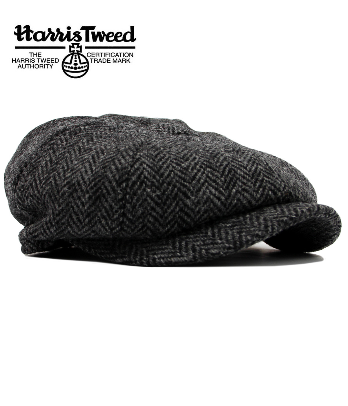 Carloway Harris Tweed FAILSWORTH Retro Mod 8 Panel Gatsby Cap 40f016a859c