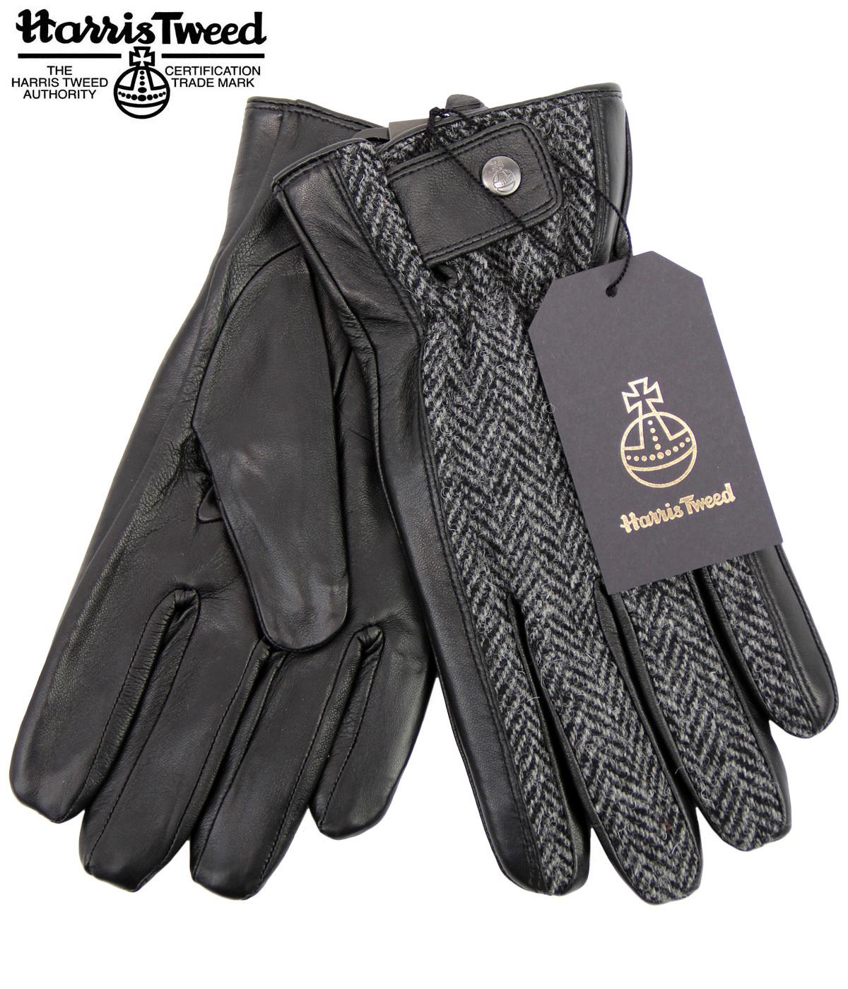 Rodel FAILSWORTH Harris Tweed & Leather 70s Gloves