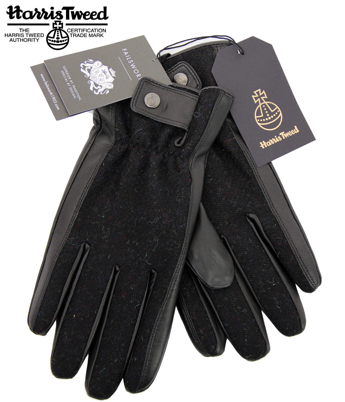 Rodel FAILSWORTH Donegal Tweed & Leather Gloves